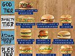 Father ranks popular fast food burgers from Hungry Jack's to McDonald's