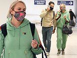 Miranda Lambert and husband look busy as they arrive in LA. after news of her Grammys performance