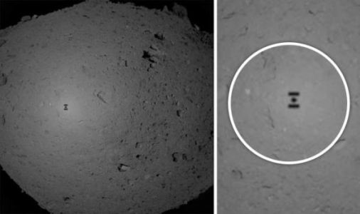 Asteroid Ryugu pictures: Stunning photos reveal moment Hayabusa-2 lands on asteroid
