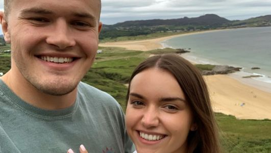 Perfect match: Ulster star Jacob Stockdale gets engaged to old school friend