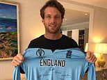Jos Buttler's World Cup shirt auctioned for charity