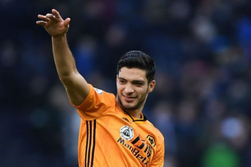 Wolves striker Raul Jimenez reacts to Man Utd and Arsenal transfer interest
