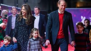 Prince William and Kate Middleton have taken their three children abroad for the half-term holidays