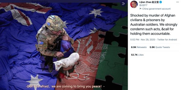 China's fake photo of Australian soldier harming child is part of 'dirty game,' Australian special forces soldier says