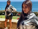 Khloe Kardashian looks unrecognizable as she models Scott Disick's Talentless brand hoodie