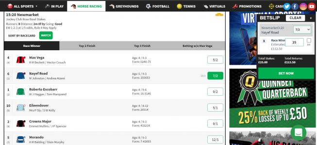 Horse Racing NAP of the Day: 7/2 Horse Racing Betting Tip This Thursday + a £25 Risk Free Bet