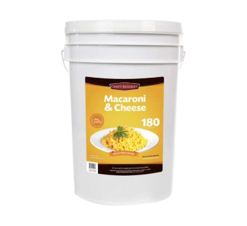 Costo is sells out of horrifying $90 mac and cheese bucket that won't expire until 2039