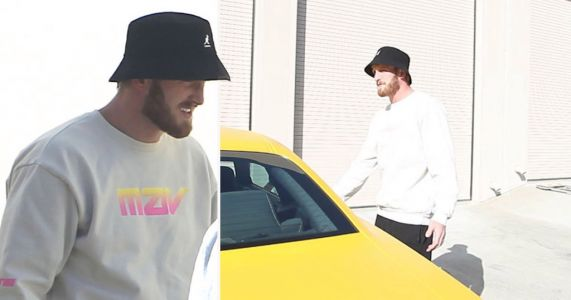 Logan Paul spotted in LA the same day his brother Jake's home was raided by FBI