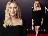 Emma Roberts is simply stylish in classic little black dress at the Hollywood premiere for Spencer