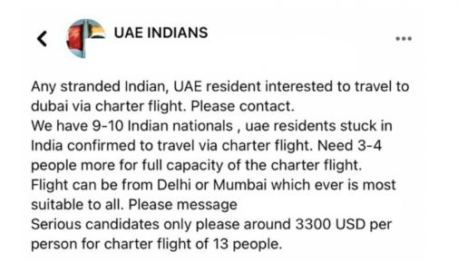 India-UAE Travel Ban: Why I Decided To Fly From Delhi To Dubai Onboard A Charter Flight