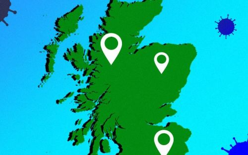 Coronavirus cases in Scotland, mapped