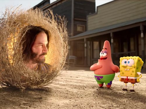 Keanu Reeves is a wise tumbleweed in the trailer for the new Spongebob movie