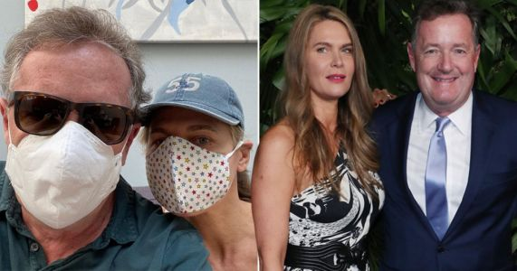 Piers Morgan won't let coronavirus stop date night as he masks up for romantic evening with wife