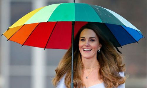 Royal fans are obsessed with Kate Middleton's rainbow umbrella - and Amazon is selling a £7.99 version