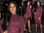 Love Island's Malin Andersson enjoys a night out after 'fleeing her home' over acid attack threat
