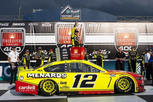 Michigan NASCAR: Blaney vaults to victory after late restart push