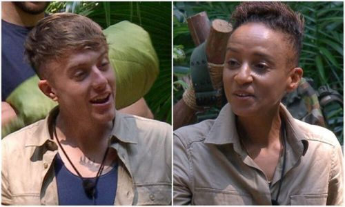 I'm A Celebrity: Adele Roberts And Roman Kemp Clash Over Jane McDonald Photo