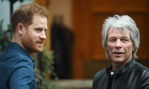 Prince Harry teams up with Jon Bon Jovi at Abbey Road Studios
