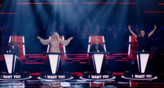 First look at new The Voice UK with a BLONDE Olly Murs joined by Will.I.Am and Megan Trainor
