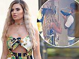 Megan Barton Hanson teases a glimpse of her underboob in cut-out jumpsuit