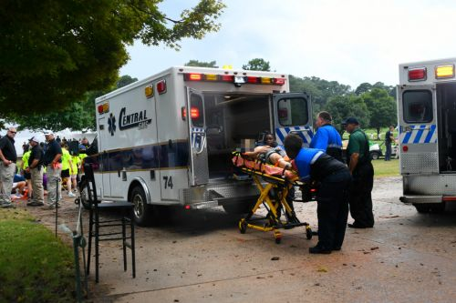 Multiple golf fans struck by LIGHTNING at Tour Championship as paramedics treat injured