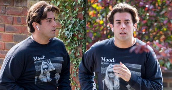 James Argent wears Gemma Collins meme jumper as he shows off weight loss on run after 'rehab' stint