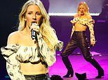 Newlywed Ellie Goulding performs at Bvlgari event during LFW