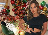 Inside Sam Faiers' VERY extravagant Christmas decor with personalised placements and floral displays