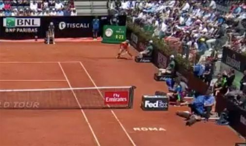 Rafael Nadal nearly takes out line judge during Fabio Fognini clash and still wins point!