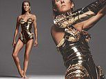 Celine Dion, 52, flaunts her tanned and toned legs in extraordinary futuristic bodysuit