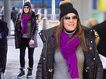 Elizabeth Hurley, 54, nails winter chic as she swaps her glam look for a cosy jumper