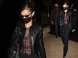Bella Hadid leaves Fendi show during Haute Couture Fashion Week in Paris