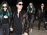 Bella Thorne and Benjamin Mascolo are the picture of rocker cool for Valentine's Day dinner