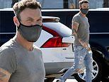 Brian Austin Green shows off his brawny arms. after bizarre video with Courtney Stodden