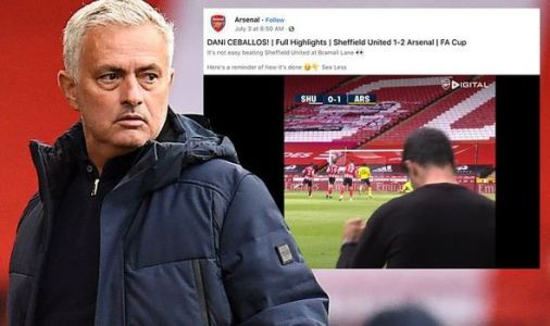 Jose Mourinho hits back at Arsenal over Facebook post - 'We will be waiting for them'