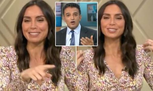 Christine Lampard left red-faced as Adil Ray exposes wardrobe blunder: 'I'm underdressed!'