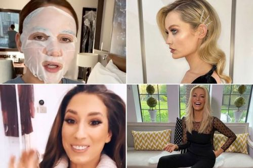 Celebs prepare for National Television Awards with face masks, ballgowns and glam squads