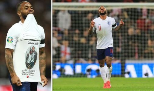 Raheem Sterling: England ace in touching Damary Dawkins tribute after Czech Republic goal