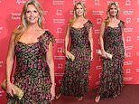 Penny Lancaster stuns in floral floor-length gown as she attends British Heart Foundation charity do