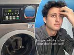 Neighbours actor Cameron Robbie was confused for an employee at a coin laundry