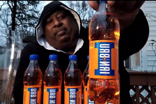 American YouTube star chugs 2L of Irn-Bru from glass boot in just 18 seconds