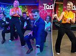 Karl Stefanovic and Today show team attempt to do a dance routine to a Backstreet Boys song