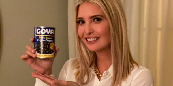 Ivanka Trump posted a photo posing with Goya beans as people call for boycott - but it may have violated government ethics rules