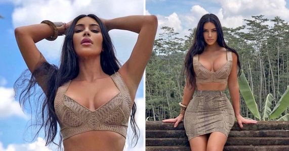 Kim Kardashian didn't have to slay like this for Bali holiday, but she did anyway