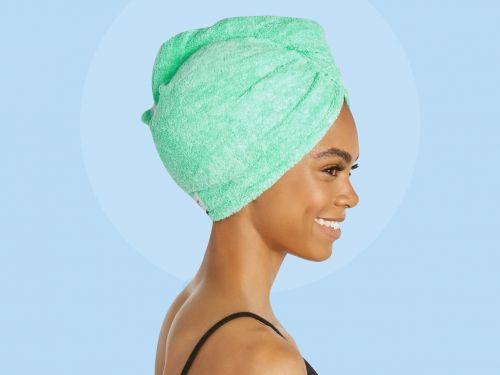This $10 hair towel is deceptively simple - it's literally just a towel with some small design tweaks, but I swear by it for drying my hair quickly