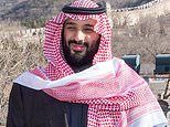 Saudi Arabia's Mohammed Bin Salman takes a walk on the Great Wall of China during tour of Asia