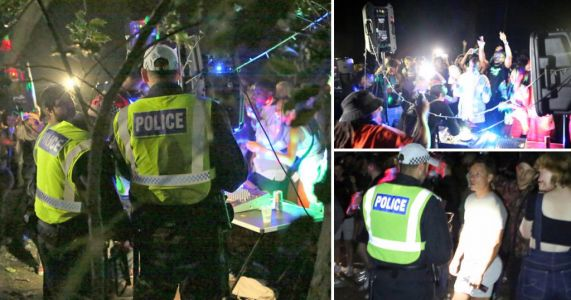 500 people descend on woods for illegal rave with fairy lights and DJ