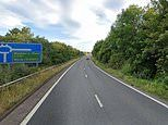 Driver is arrested 'after he stabbed a 26-year-old passenger in another car in M5 road rage attack'
