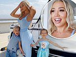 Tammy Hembrow watches Frozen 2 with her two young children