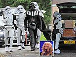 Grandmother, 78, booted off X-Factor by Simon Cowell is laid to rest in Star Wars-themed funeral
